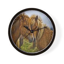 In Love Horses Wall Clock