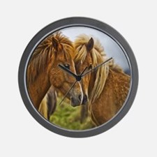 In Love Horses Wall Clock