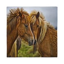 In Love Horses Queen Duvet