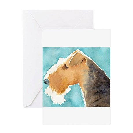 Airedale Terrier Stuff Greeting Cards (Package of