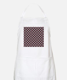 Red and White Plaid Pattern Apron