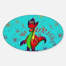 My Dragon Sticker (Oval)
