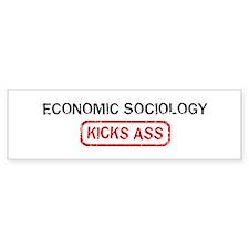 ECONOMIC SOCIOLOGY kicks ass Bumper Bumper Sticker