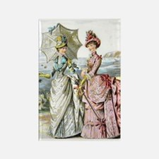 Duo of Victorian Ladies Magnets