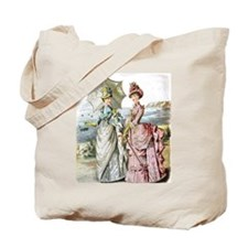 Duo of Victorian Ladies Tote Bag