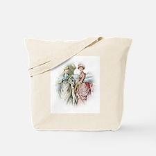 Portrait Of Victorian Duo Tote Bag