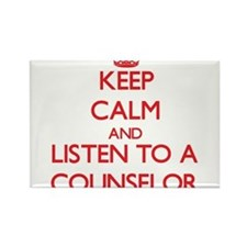 Keep Calm and Listen to a Counselor Magnets