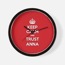 Trust Anna Wall Clock