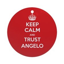 Trust Angelo Ornament (Round)
