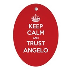 Trust Angelo Ornament (Oval)