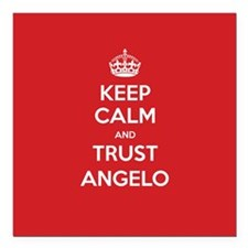 "Trust Angelo Square Car Magnet 3"" x 3"""