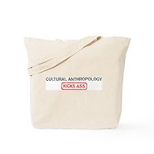 CULTURAL ANTHROPOLOGY kicks a Tote Bag