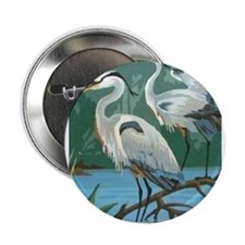 "Egrets 2.25"" Button"