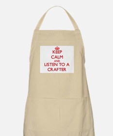 Keep Calm and Listen to a Crafter Apron