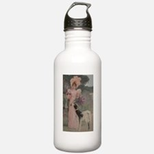 Lady And The Afghan Hound Water Bottle