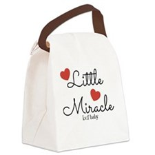 Little Miracle IVF Baby Canvas Lunch Bag