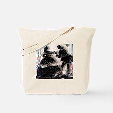 Georgian Courtship Kiss On The Hand Tote Bag