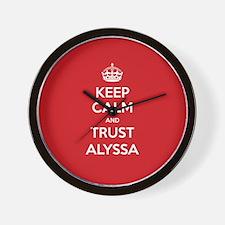 Trust Alyssa Wall Clock