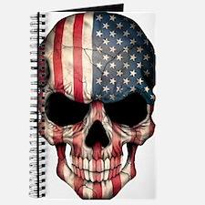 American Flag Skull Journal