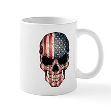 American Flag Skull Mugs