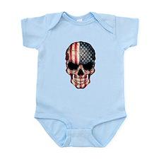 American Flag Skull Body Suit