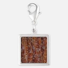 Bacon Silver Square Charm