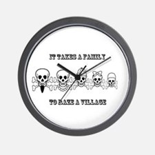 Pirate Family Wall Clock