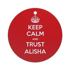 Trust Alisha Ornament (Round)