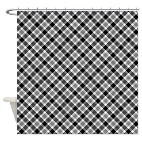 Black And White Patterned Curtains Black and White Plaid Scarves
