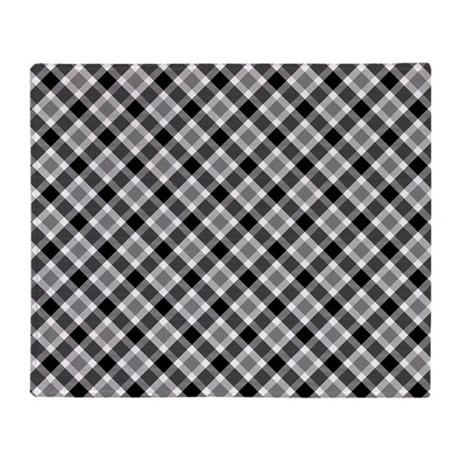 black and white plaid throw blanket by thetestshop. Black Bedroom Furniture Sets. Home Design Ideas