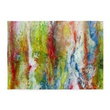 White Fire 5'x7'Area Rug