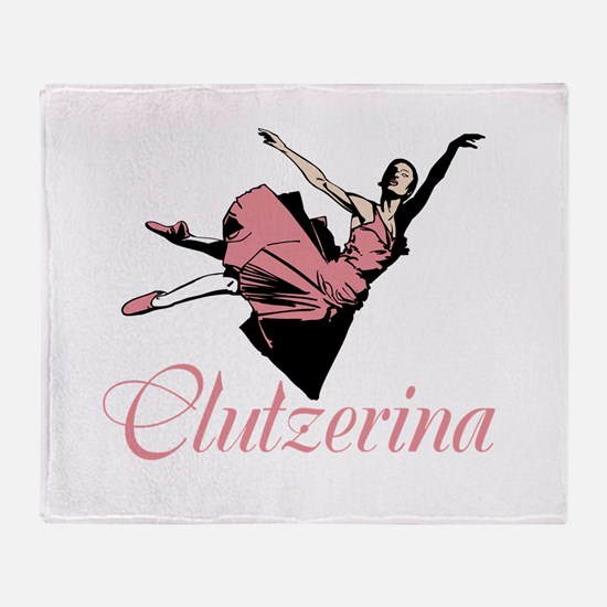 Clutzerina the Graceful Throw Blanket