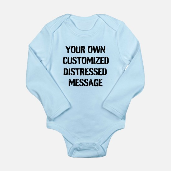 Custom Distressed Message Body Suit
