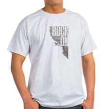 Rock On - Rock Climbing Graphic Tee T-Shirt