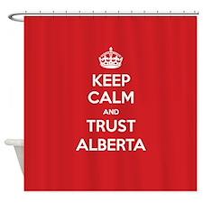 Trust Alberta Shower Curtain