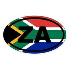 South Africa ZA flag Decal