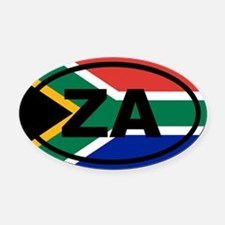 South Africa ZA flag Oval Car Magnet