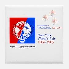 50th Anniversary Fireworks Tile Coaster