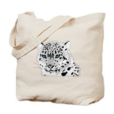Beautiful Blue Eyed Snow Leopard   Tote Bag