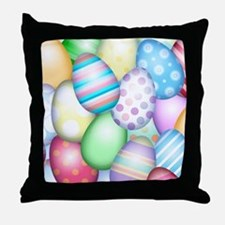 Decorated Eggs Throw Pillow