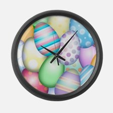 Decorated Eggs Large Wall Clock