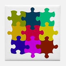 Cute Puzzles Tile Coaster