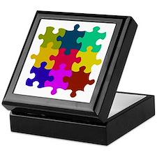 Cute Autism puzzle Keepsake Box