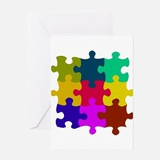Cute Puzzle games Greeting Card
