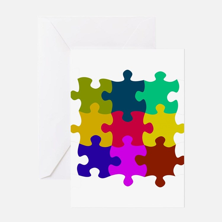 Cute Puzzle pieces Greeting Card