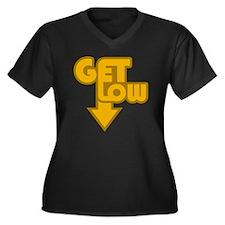 Get Low Oran Women's Plus Size V-Neck Dark T-Shirt