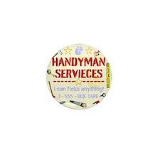 Handyman Mini Button