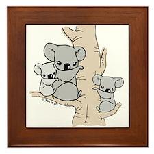 Koala Bears Framed Tile