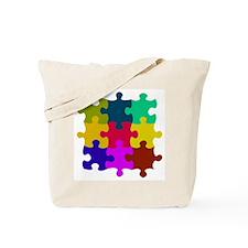 Funny Autism puzzle Tote Bag