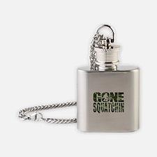 Camo Gone Squatchin Flask Necklace